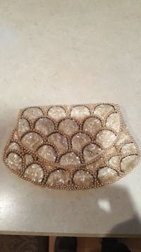 Vintage 1950s Abalone Sequin Clamshell John Wind C