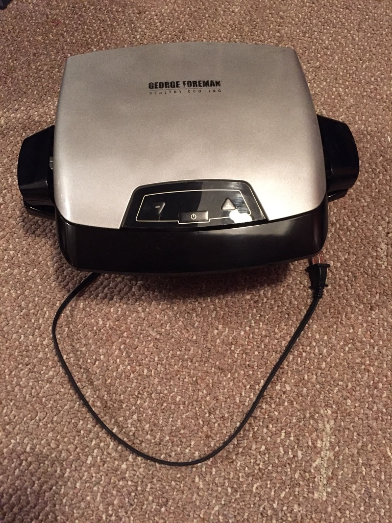 gray and black George Foreman grill press, used for sale  Barrie