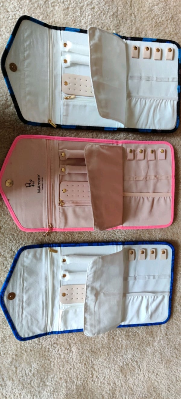 Travel Jewelry Organizer Roll - Stylish and Compact Foldable Case ebeb6047-2471-475e-b012-6fc5fd502aed