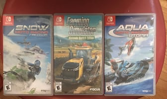 nintendo switch : SNOW  FARMING et AQUA