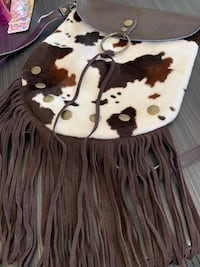 Spiegel Brand Brown Leather Purse with Brown Suede Fringe Fishers, 46037