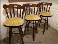 four brown wooden windsor chairs Ashburn, 20147