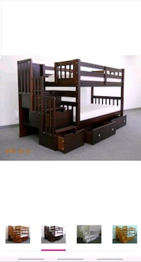 brown wooden loft bed frame Laurel, 20723