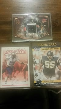 three assorted NFL player trading cards Manor, 78653