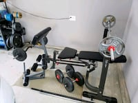 Full gym, weights, bench, bars, rack Coquitlam, V3E 3H1