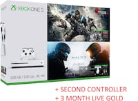 Almost Brand New Xbox One S 500GB Console + Second Original Controller + 3 Month Gold Membership + 4 Games Toronto