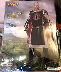 Men's knight costume. Brand new in package.  Calgary, T2C 4S6