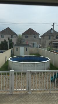 white and blue above ground pool Laval, H7C 2S6