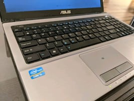Asus laptop i5/4gb/250gb HDD/win7