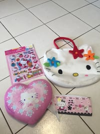 Hello Kitty lot. $15 firm. Hello kitty bag, pillow (used), new pencil case, and new room decor 3D set. Vaughan, L4J 5L7