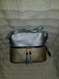 black and gray leather crossbody bag Houston, 77007