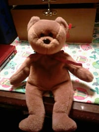 Teddy Beanie Baby rare retired new face great con Townville, 29689