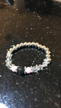 black,pink, and silver-colored beaded bracelet Toronto, M9L 1C6