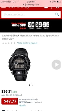 Black casio g-shock digital watch ***new***. received as a gift. original box with papers