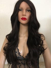 Color 4 wig wavy layered 24 inch long synthetic very high quality silk smooth texture classic adjustable cup with straps brand new