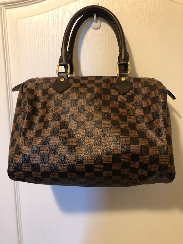 71ebf56037bf Used damier ebene Louis Vuitton leather tote bag for sale in ...