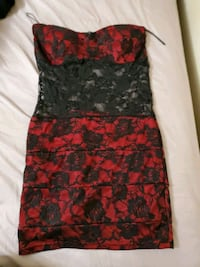 Floral red and black dress King City, L7B 1C9