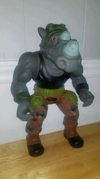 "13"" Rocksteady TMNT Toy 1990"