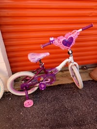 toddler's pink and white bicycle with training wheels Washington, 20018