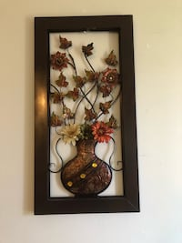 Metal wall decoration flowers