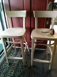 2ft high 2 barstools real wood great for revival project