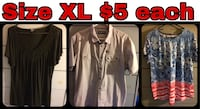 Women's XL tops...buy as a lot to save $ or  willing to split...see below for details North Vancouver, V7M 1A5