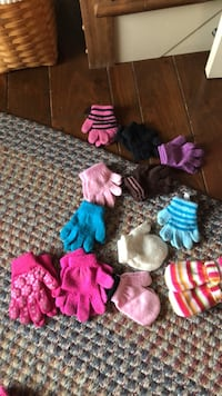 toddler gloves and mittens.  (.75 per pair) Middleburg, 17842