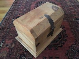 """Small Pine Wood Chest 12"""" x 8"""" x 8"""""""