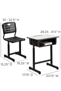 Kids Desk and Seat New Adjustable Height New York, 11228
