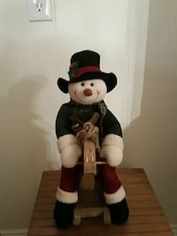 Adorable Snowman on a Rocking Horse. Campbell, 95008