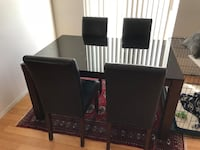 Black Glass Dining Room Table Set San Diego, 92110