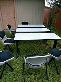 white and black wooden table with chairs Donna, 78537