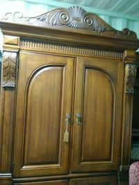 cabinet drawer used brown wooden 4 door cabinet for in arlington letgo 12838