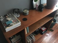 brown wooden desk with hutch Los Angeles, 91316