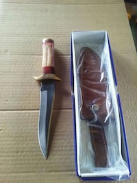 Hunting knife with Stained Bone handle. Forest, 24551