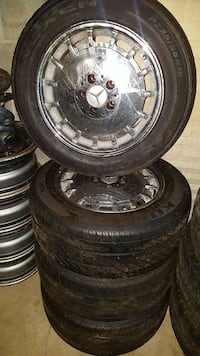 (4) 16 inch Mercedes rims and tires.