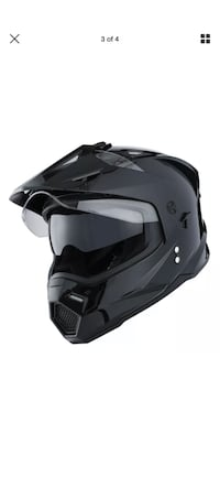 Dual sport dual visor motorcycle helmet good for medium to large heads. Very comfortable and I've been wearing full face helmets all my life  Derwood, 20855