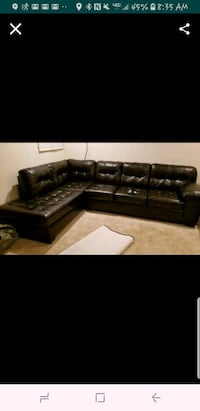 black leather sectional couch screenshot Manassas, 20112