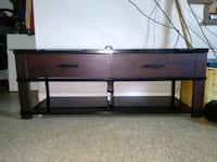 Glass 2 drawer tv stand Virginia Beach, 23452