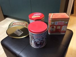 Coca-Cola collectors tins
