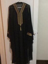 Long black dress with gold design Windsor, N8W 1A3
