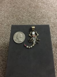 14 kt Gold Scorpion Pendant with Ruby eyes and CZ's Alexandria, 22304