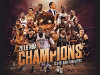 2016 NBA Champions Cleveland Cavaliers poster Columbus, 43231