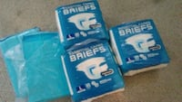 New adult male diapers (large) and bed pad.  La Puente, 91744