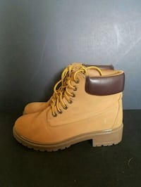 pair of brown Timberland work boots Colorado Springs, 80911
