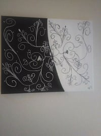 black and white floral wall decor Lafayette, 70508