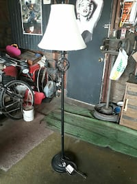 black and white floor lamp
