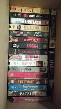 Over 100 vhs movies multiple boxes full