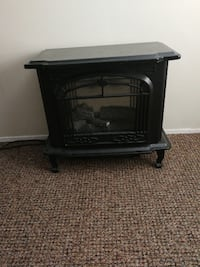 black and gray electric fireplace VANCOUVER