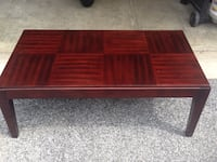 Rectangular Wooden Coffee Table with Red Finish Odenton, 21113